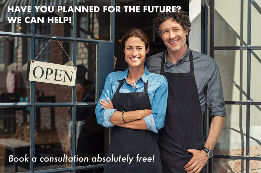 Happy business owners have planned for their financial future with accounting and tax advise from Padgett Calgary